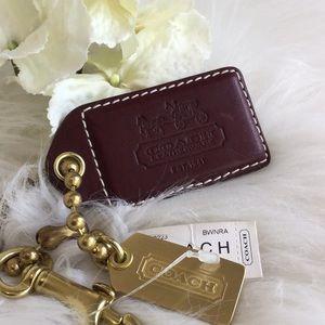 🆕Coach Leather Key Holder/Luggage Tag